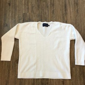 Calvin Klein Jeans White Knit Sweater in Size XL